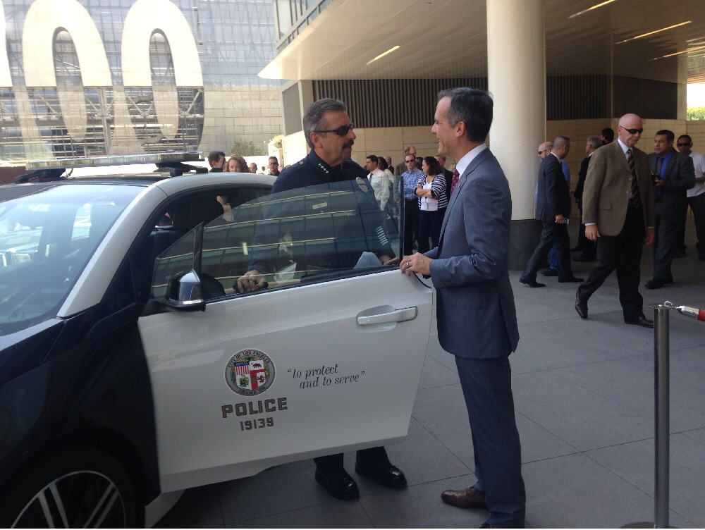 LAPD's New BMW i3 and Tesla Model S