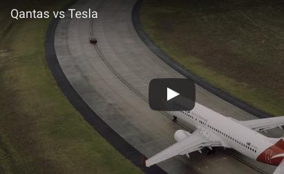 Qantas and Tesla Race