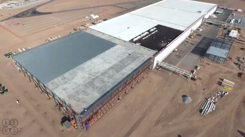 Tesla Gigafactory Posted to Youtube by Above Reno
