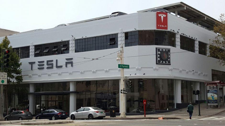 Tesla Flagship San Francisco Outside