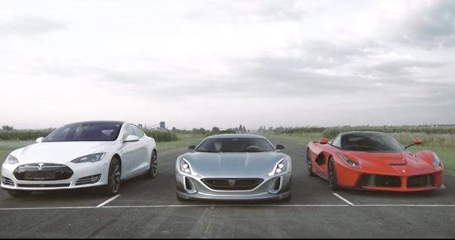 Ferrari, Rimac and Tesla Compete