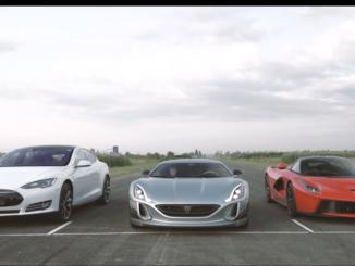 Concept One vs LaFerrari & Tesla P90D Video