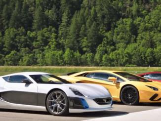The Grand Tour EV Supercar Drag Race