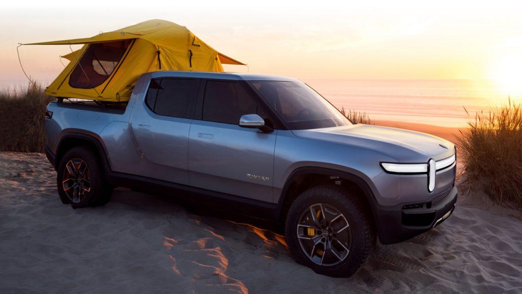 2021 Rivian R1T Truck EV - tent