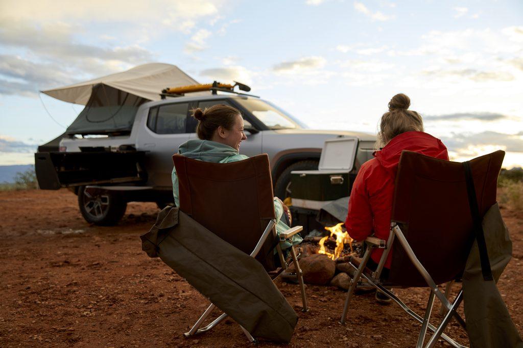 2021 Rivian R1T Truck EV - camping