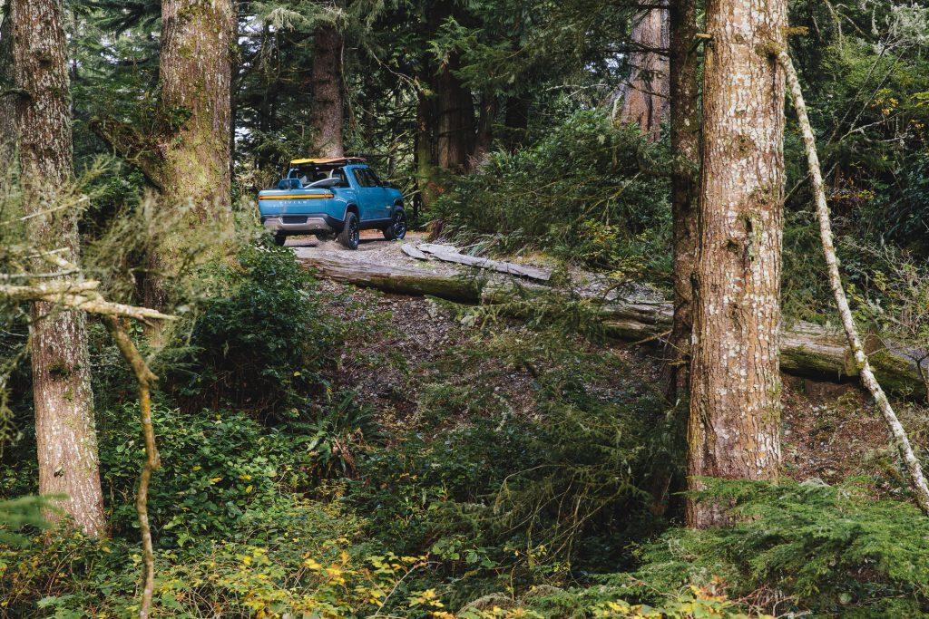 2021 Rivian R1T Truck EV - forest