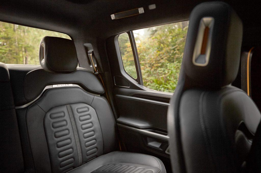 2021 Rivian R1T Truck EV - Backseat Interior