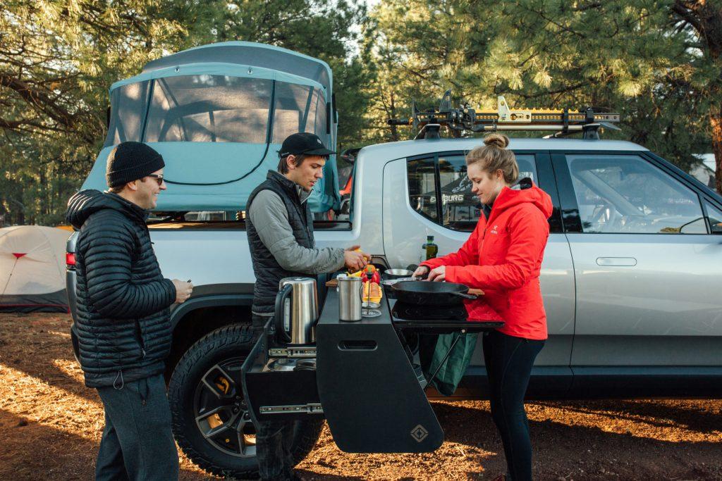 2021 Rivian R1T Truck EV - Camp Kitchen