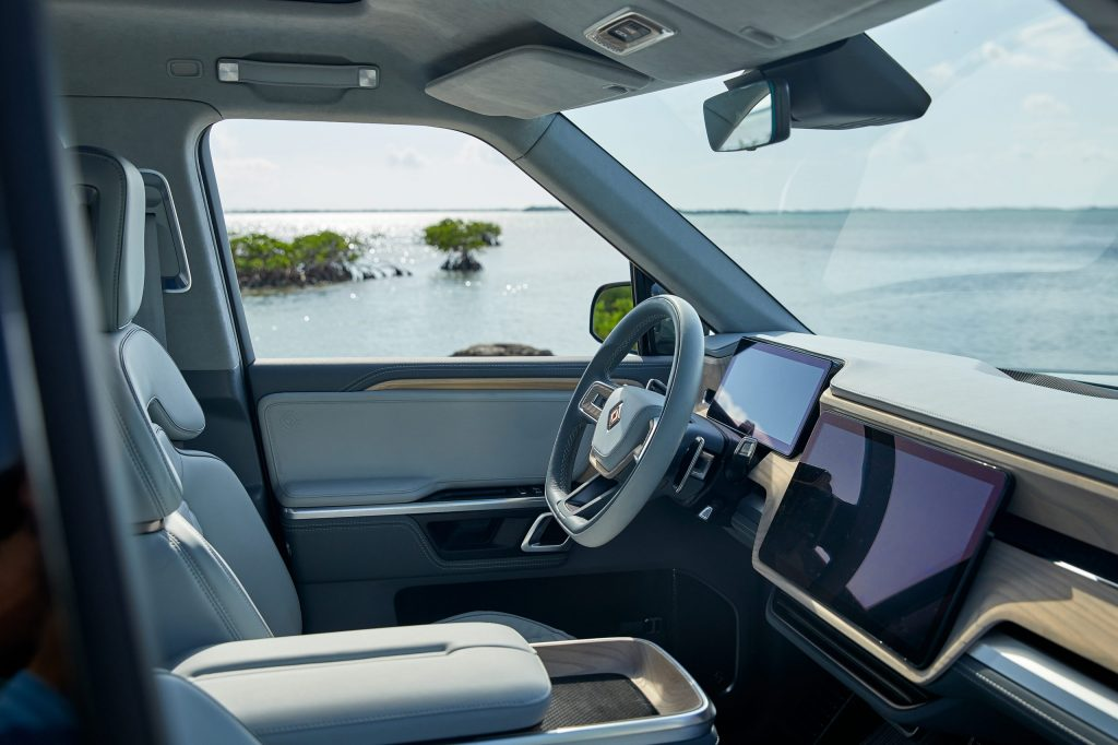 2021 Rivian R1S SUV - front cabin