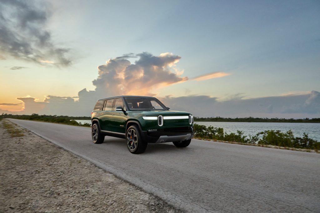 2021 Rivian R1S SUV - road